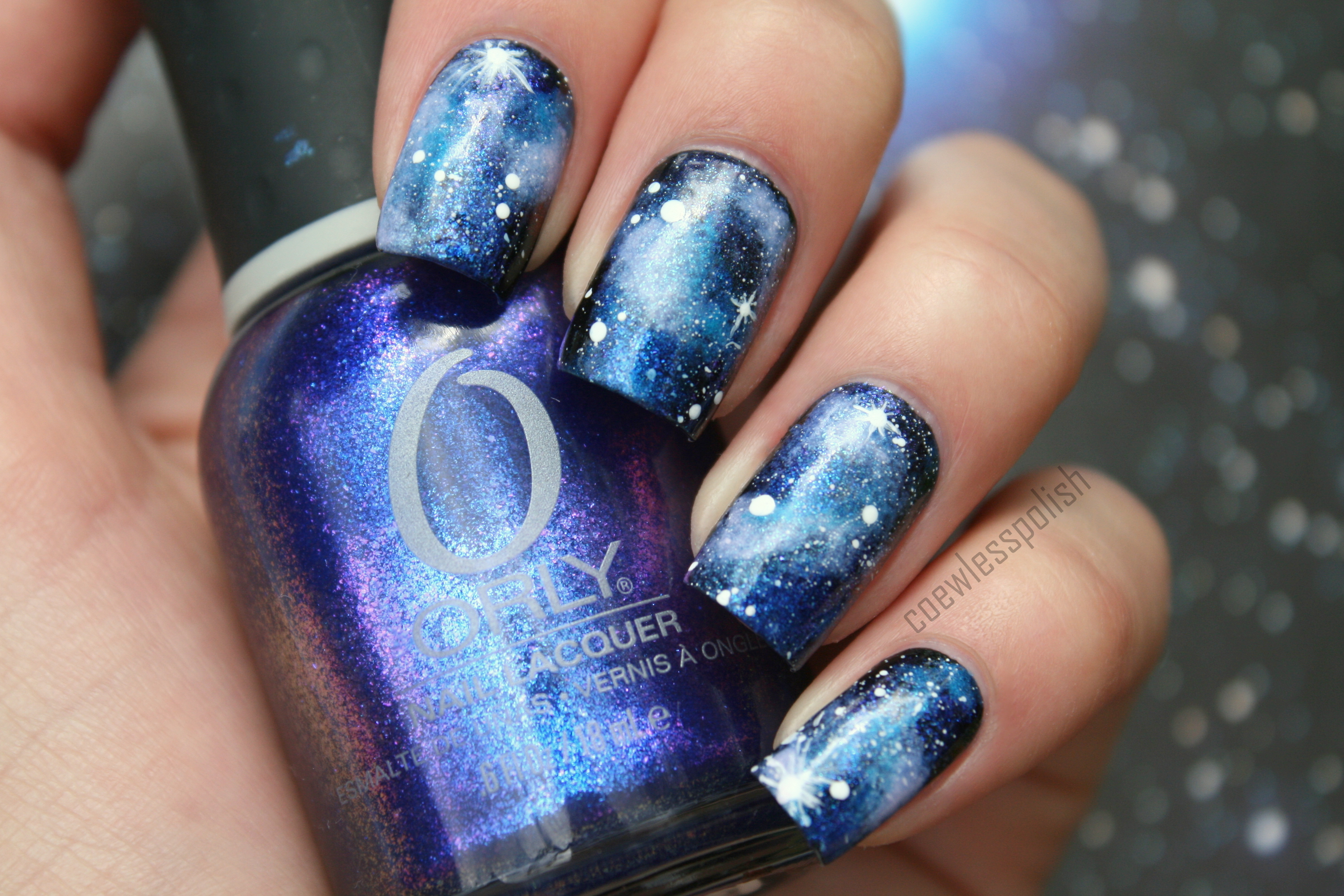 Galaxy nail art nails collection 15 wallpapers diy easy galaxy nail art tutorial sponge nails youtube solutioingenieria Images