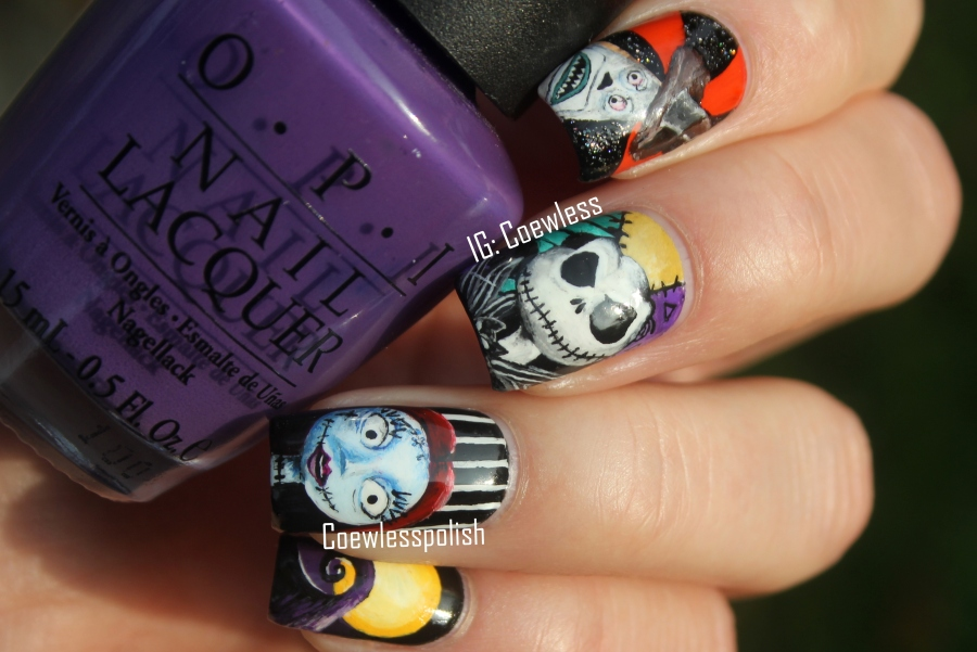 NOTD – The nightmare before christmas (Halloween 2015) | Coewless ...