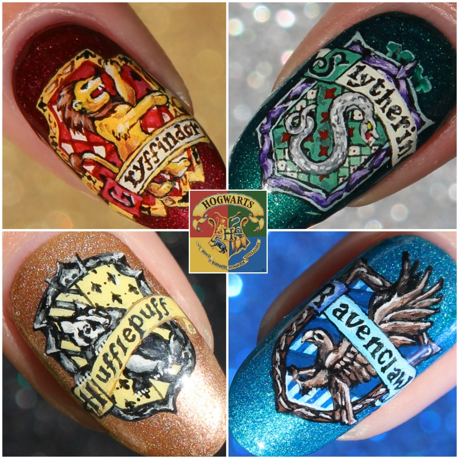 Dahlia Nails Ravenclaw Nail Art: NOTD – Harry Potter House Crests